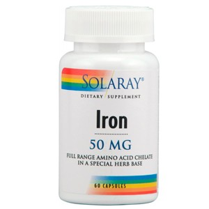 Iron 25 mg 60 cápsulas (Solaray)